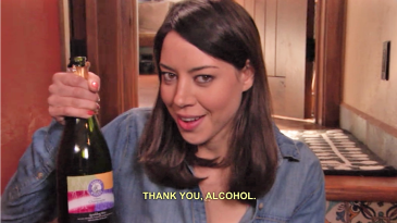 Aubrey Plaza loves wine introvert extrovert Parks and Rec